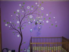 Baby nursery is perfect colors and matches theme of our new house