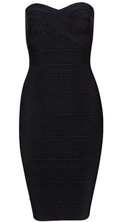 Cassy Mini Black Bandage Dress
