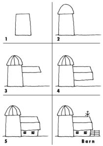 Let Your Kids See If They Can Draw This Barn By Looking At The Simple Steps