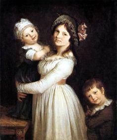 Pierre-Paul Prud´hon  - Mme Georges Anthony et ses enfants Frédi et Joseph 1796