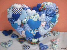 Подушки из сердечек