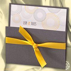 Faire-part mariage pochette gris et jaune - MM13-034 - Belarto 723114   Faire-part.fr