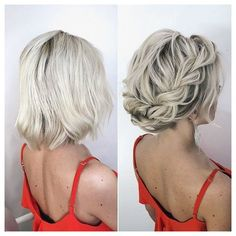 Short Wedding Hair, Braids For Short Hair, Wedding Hair And Makeup, Short Hair Styles, Best Wedding Hairstyles, Bride Hairstyles, Hairstyles Haircuts, Short Hair Bridesmaid Hairstyles, Bridal Hair Down