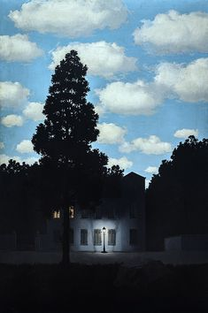 Empire of Light (L'empire des lumières), René Magritte, 1953–54, Guggenheim Museum, Collection Online