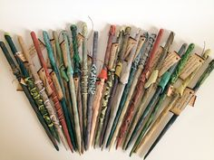 6 Wizard Wand Favors for Harry Potter Party Plus Digital Book. $25.50, via Etsy.