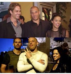 Paul Walker, Vin Diesel & Michelle Rodriguez - The Fast and The Furious & the making of Fast 7 Paul Walker Movies, Rip Paul Walker, Vin Diesel, Fast And Furious Actors, Furious 7 Movie, Brian Oconner, Dom And Letty, Paul Walker Pictures, Dominic Toretto