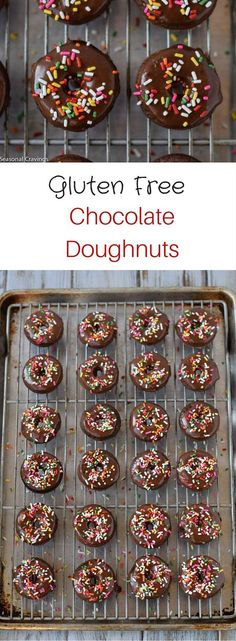 Who doesn't love a chocolate glazed doughnut with sprinkles? These Gluten Free Chocolate Doughnuts are soft, tender and just the right amount of sweet.  You will never know they are gluten-free.