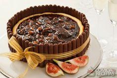 Receita de Cheesecake de figo com palito em receitas de tortas doces, veja essa e outras receitas aqui!