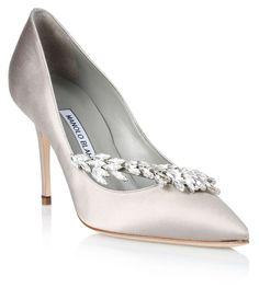 Nadira silver satin pump Manolo Blahnik - Savannah's