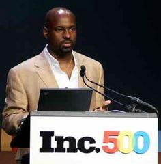 Sundial Brands CEO Richelieu Dennis speaking at @Inc 500 event.