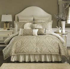Our bedding.... I'm so in love with this!! Croscill Coppelia