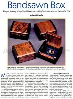 Bandsaw Wedding Ring Box Plans - Woodworking Plans