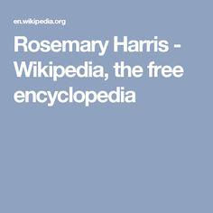 Rosemary Harris - Wikipedia, the free encyclopedia