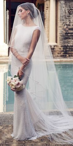 Anna Campbell 2019 Wedding Dresses - Wanderlust Bridal Collection (Belle the Magazi . - Anna Campbell 2019 Wedding Dresses – Wanderlust Bridal Collection (Belle the Magazine) - Fitted Wedding Gown, White Wedding Gowns, Wedding Gowns With Sleeves, Dresses With Sleeves, Cap Sleeves, Lace Wedding, Wedding Dress Veil, Cathedral Wedding Dress, Cathedral Veils