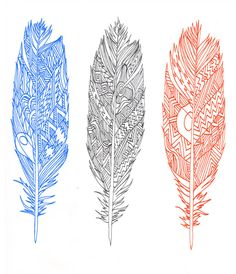 tattoo idea // patterned feathers