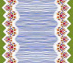 Scandinavian Skirt Blue fabric by tiffanyhoward on Spoonflower - custom fabric