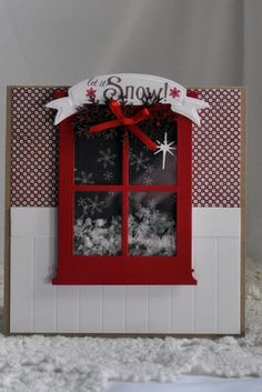Renee used the window die to make a shaker card!  So clever.