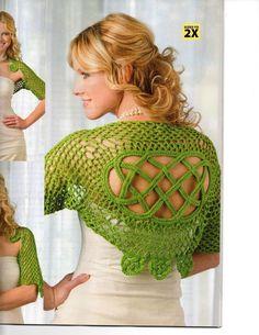 Celtic Knot Crochet: Kerry Shrug - from Prize-winning Glendalough Shrug (Celtic Knot Shrug)
