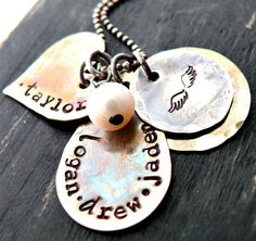 Mommy Necklace Personalized Necklace Sterling by yourcharmedlife, $50.00