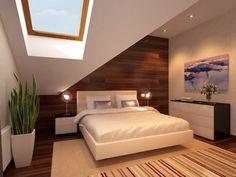 habitación c/ pared de madera