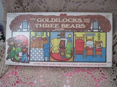 1976 Goldilocks and The Three Bears Cadaco Game Ages 3 to 8 by Daysgonebytreasures on Etsy