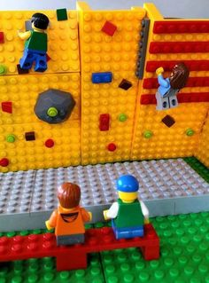Hanging with friends on my new climbing wall. Hanging With Friends, Charlie Bears, Climbing Wall, Bouldering, Lego Ideas, Play, Legos, Toys, Backpacking