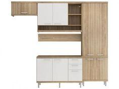 Cozinha Compacta Multimóveis Sicilia com Balcão - 9 Portas 3 Gavetas com as melhores condições você encontra no Magazine Edisonmaciel. Confira!