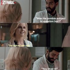 "#iZombie 1x05 ""Flight of the Living Dead"" - Ravi and Liv"