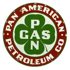 Pan American Gasoline Porcelain Sign