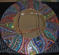 Reason I love mosaics...different sizes, different shapes make beautiful art... kind of like life.