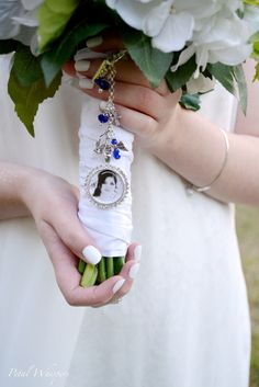 Something Blue Bouquet Charm Wedding Memorial Bridal
