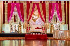 Wedding Vendors, Wedding Events, Wedding Ideas, Reception Backdrop, Wedding Mandap, Wedding Reception, Traditional Indian Wedding, Wedding Stage Decorations, Event Design