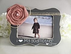 Godmother Gift Gift for Godmother Godmother Present Godmother Picture Frame… Godparents Day, Godparent Gifts, Godchild, Cool Gifts, Diy Gifts, Holiday Gifts, Christmas Gifts, Xmas, Baptism Party