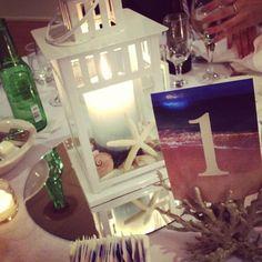 pinterest beach wedding centerpieces | DIY beach lantern centerpiece | wedding.