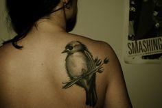 stunning bird tattoo