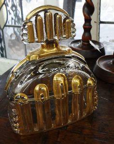 Art Deco glass bottle.