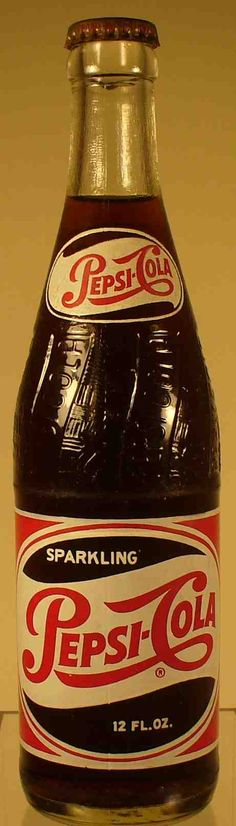 Pepsi, I remember this. Iced cold in the bottle so good....