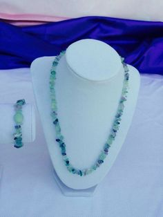 Genuine Fluorite Crystal Set  #Age #Bracelets #Clear #Crystals #Fashion #Genuine #Green #healing #makeitaset #Necklaces #New #PRECIOUS #Purple #Quartz #Shiny #Spiritual #Stones #symbols #trendy #what'shotnow