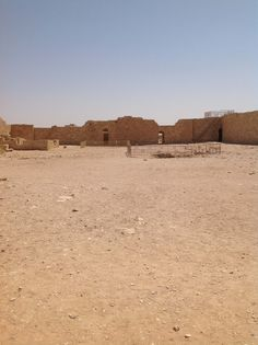 93. The Courtyard of the Fortress of Avdat
