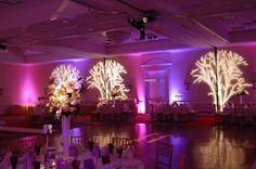 Creative lighting adds drama to this Westfields Marriott Washington Dulles wedding reception! {Westfields Marriott Washington Dulles}
