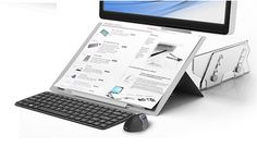 Ergoprise Ergonomic Store - libro H Ultra Thin Adjustable Document Holder, $89.95 (http://www.ergoprise.com/libro-h-ultra-thin-adjustable-document-holder/)