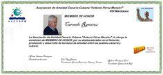 Martianos. ACC-APM. Carmelo Ramírez  Miembro de Honor