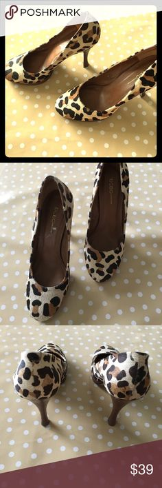 BCBGeneration leopard print pony hair pumps, sz 8 These puppies are super rad!  These fabulous leopard print little numbers can be worn as a neutral with anything from skinny jeans or printed, cropped pants to a cocktail dress or LBD.  They are in great pre-worn condition (barely worn) with only a nick or 2 of hair missing, as pictured.  Soles are in great shape!  Snatch these gals up for some serious on trend fun! BCBGeneration Shoes Heels