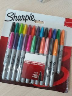 Middle School Supplies, Middle School Hacks, Stationery Pens, School Stationery, Sharpie Colors, Cool Paper Crafts, Diy Crafts, School Suplies, Stationary Store