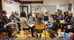 In de 'leerlingenarena' luisteren leraren 20 minuten lang stil naar wat hun leerlingen willen delen. Daarna gaat elk lerarenteam aan de slag met wat ze gehoord hebben. Zo doet  de 1e Montessorischool De Wielewaal in Amsterdam het.