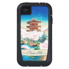 Keisui Pagoda in Spring japanese oriental scenery iphone 4 case tough xtreme #iphone #iphone4 #japanese #oriental #cases #covers #tough #pagoda