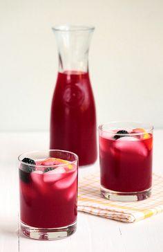 Blackberry Lemonade: 6 cups water, divided 1 cup sugar 4 lemons 2 cups (1 pint) fresh blackberries