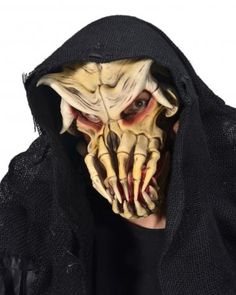 Nightmare on Belmont Mask SKU: M3522 Large skull-like creature Mask with fangs resembling fingers and an attached rotting hood. Zagone Masks & Costumes | Zagone Studios