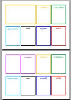 les boites de grammaire Montessori
