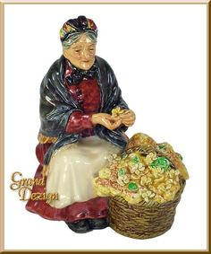 Primroses HN1617 Royal Doulton figurine, rare and retired figurines, www.GrandDezign.com offers one of the largest selections of Royal Doulton figurines worldwide!